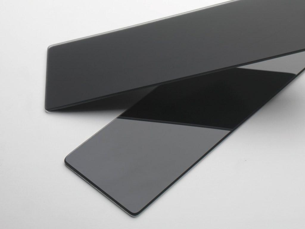 glass pattern black matt and shiny